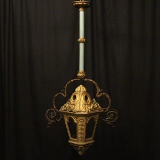 Italian Giltwood 19th C Antique Lantern