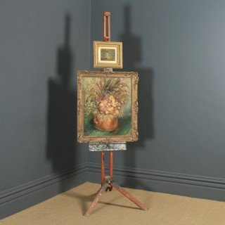 Antique English George V Winsor & Newton Beech Artists Picture Painting Studio Folding Easel (Circa 1930)