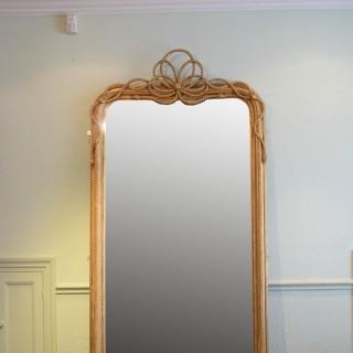 Large 19th Century Giltwood Mirror H238cm