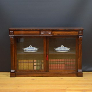 Regency Rosewood Bookcase / Cabinet