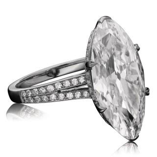 Hancocks 7.79ct D IF Type IIA Golconda Moval Diamond Ring Diamond Set Shoulders Contemporary