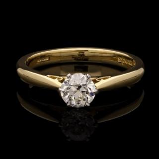 Hancocks 0.55ct F VVS2 Old European Brilliant Cut Diamond Solitaire Ring