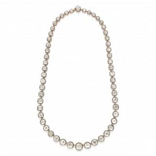 Beautiful Antique Diamond Riviere Necklace Circa 1880