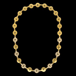 Cartier 18ct Gold And Diamond 'Himalia' Choker Necklace
