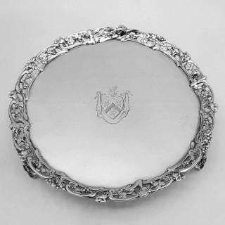 Antique Irish Silver Salver