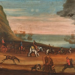 The European Race:  A Set of Important Political Paintings