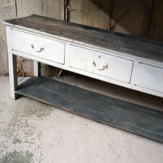 An Early Victorian Painted Pine Pot-Board Dresser Base c.1840