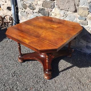 Unusual Regency Rosewood Centre Table