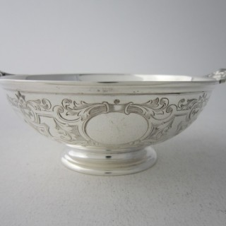 Antique Victorian Sterling Silver Bowl - 1883