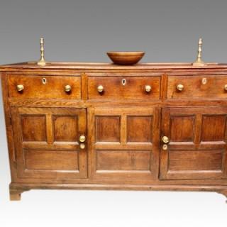 Geo III Welsh oak dresser base.