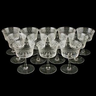 Set of Twelve Champagne Glasses