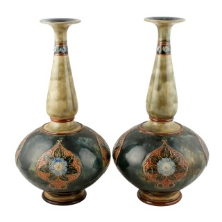 Pair of Art Nouveau Royal Doulton Vases