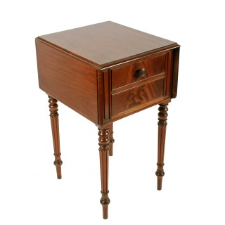 George IV Mahogany Bedside Cabinet