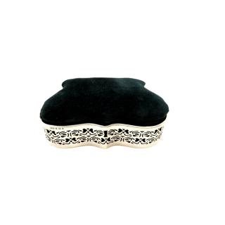 Antique Edwardian Sterling Silver Jewellery / Trinket Box 1903
