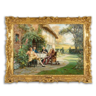 'Tea at the Vicarage' by Margaret Dovaston, dated 1952