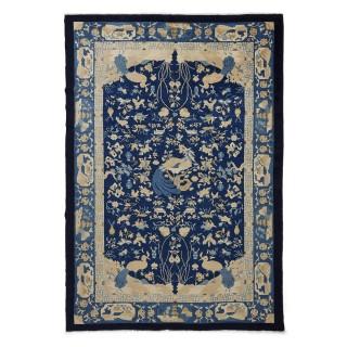 Antique Chinese Peking wool rug