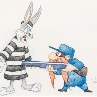 Bugs Bunny and Yosemite Sam