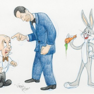 Elmer Fudd, Humphrey Bogart and Bugs