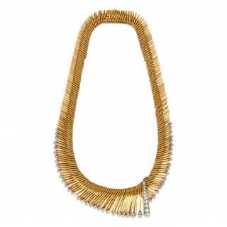 Van Cleef & Arpels Cheveaux D'Ange' Gold Diamond Necklace 1954