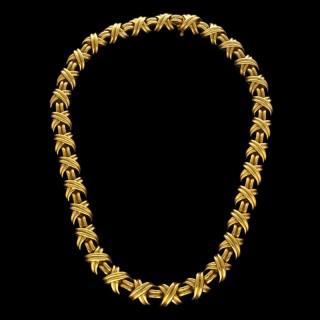 Classic Tiffany 'Signature' X-Motif Necklace 18ct Gold