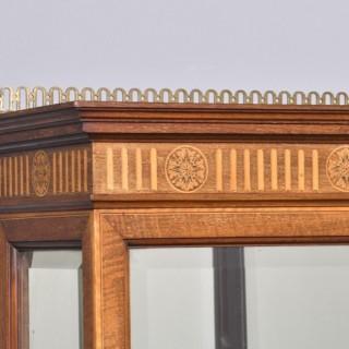 Sheraton Style Display Cabinet.
