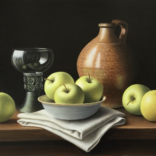 Cider Flagon with Apples