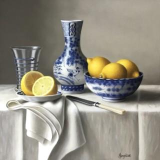 Chinese Vase with Lemons