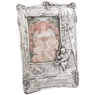 Sterling Silver Photograph Frame - Art Nouveau Style - Antique Edwardian (1904)
