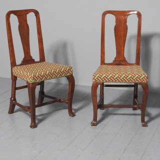 Antique Pair of George II Mahogany Side Chairs