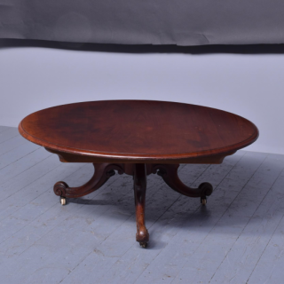 Large Victorian Circular Low/Coffee Table