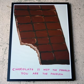 David Shrigley; Chocolate is not the Problem; Lithograph Print 2020