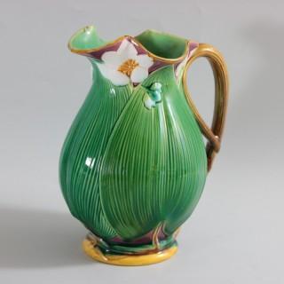 Large Minton Majolica Lily Jug/Pitcher