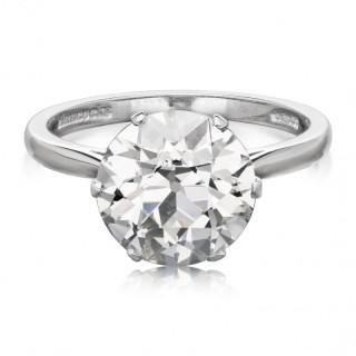Hancocks 3.57ct Old European Brilliant Cut Diamond Solitaire Ring