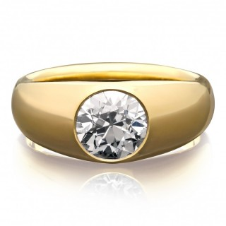 Hancocks 18ct Gold 1.64ct Old European Brilliant Cut Diamond Gypsy Set Ring