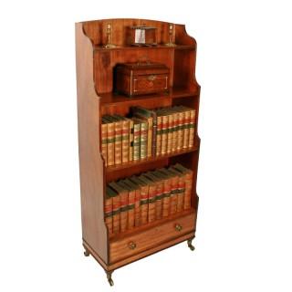 Georgian Mahogany Waterfall Bookcase