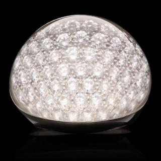 Cartier 18ct White Gold Diamond Rock Crystal 'Myst de Cartier' Ring