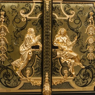 An Exceptional Pair of Napoleon III 'Boulle' Marquetry Inlaid Cabinets