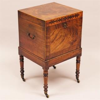 A Regency Period Mahogany Cellarette