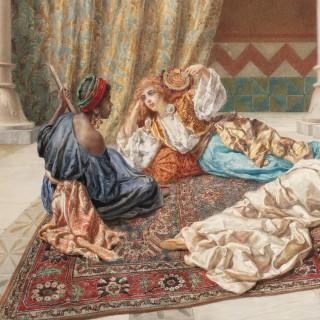 Italian Orientalist watercolour by Gabrini