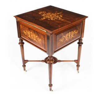 Antique Victorian Drinks Cabinet Surprise Bar Dry Bar & Glassware 19th C