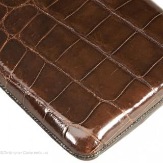 Crocodile Skin Cigar Case