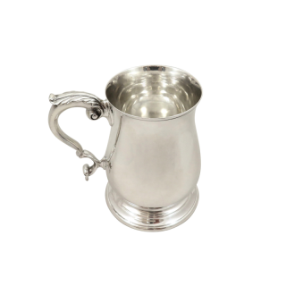 Vintage Sterling Silver Pint Mug / Tankard 1963