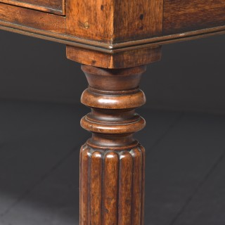 Mahogany Library Table/Desk by James Mein of Kelso