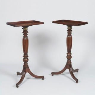 A Pair of Late Georgian Adjustable Tripod Tables Attributed to Gillows