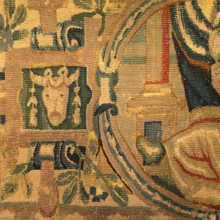 A late 16th century tapestry panel, circa 1580
