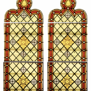 Two Large Reclaimed Stained Glass Church Windows