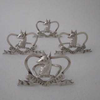 Scottish Antique Victorian Sterling Silver Menu/Place Card Holders - 1897