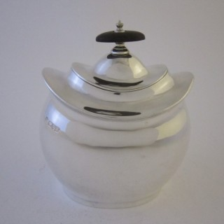 Chester Antique Edwardian Sterling Silver Tea Caddy - 1908