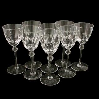 Set of Eight White Wine Glasses