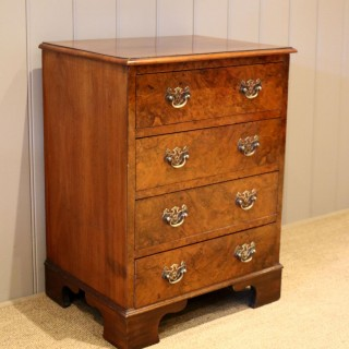 Small Proportioned Burr Walnut Chest Of Drawers